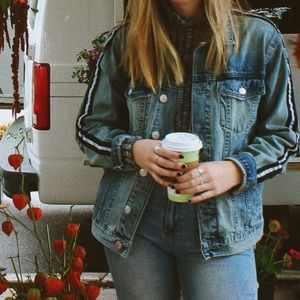 Pac Sun Jean Jacket with Stripe on arms